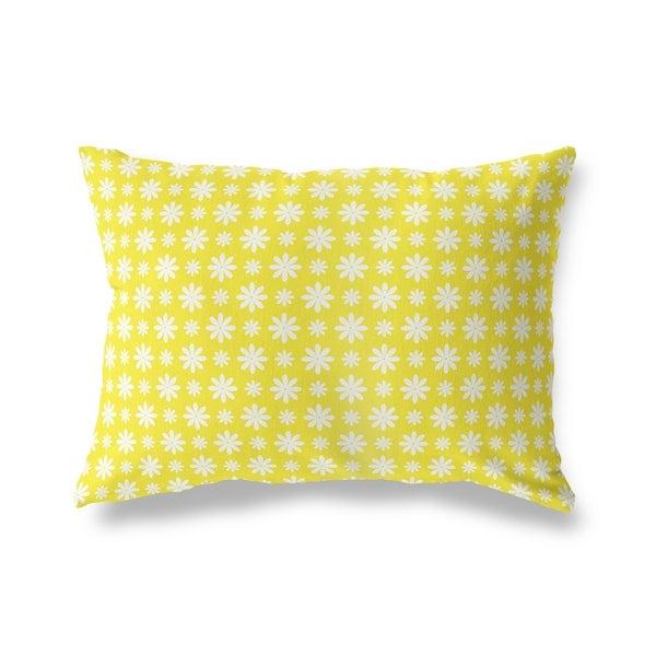 FLOWER SHOWER YELLOW Lumbar Pillow By Kavka Designs