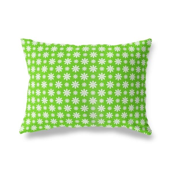 FLOWER SHOWER GREEN Lumbar Pillow By Kavka Designs