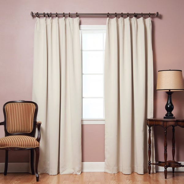 Aurora Home Pleated 84-inch Blackout Curtain Pair - Free Shipping ...