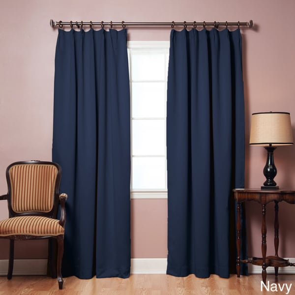 aurora home pleated 84inch blackout curtain pair 42 x 84 free shipping today
