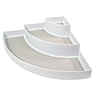 Link to Non Slip 3 Tier Spice Rack Step Corner Shelf Organizer - For Kitchen, Refrigerator, Pantry, Cabinet, Cupboards, Countertops Similar Items in Kitchen Storage
