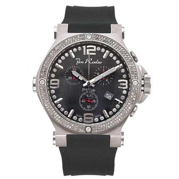 Joe Rodeo Men's Diamond Watch Genuine Diamonds 46.5mm size case, Model PHANTOM. Opens flyout.