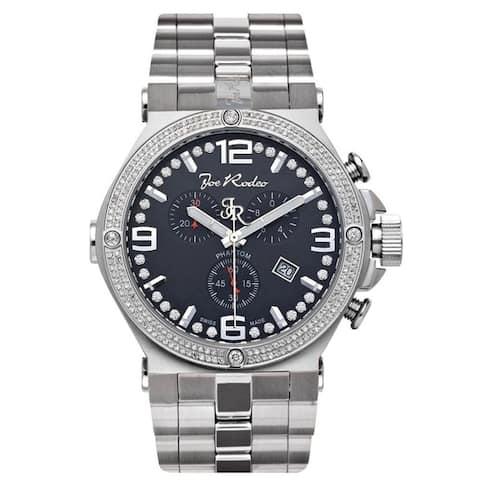 Joe Rodeo Men's Diamond Watch Genuine Diamonds 46.5mm size case, Model PHANTOM