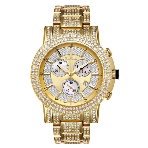 Joe Rodeo Men's Diamond Watch Genuine Diamonds, 47 mm size case Model TROOPER. Opens flyout.