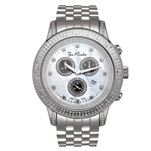 Joe Rodeo Men's Diamond Watch Genuine Diamonds, 48 mm size case Model SICILY. Opens flyout.