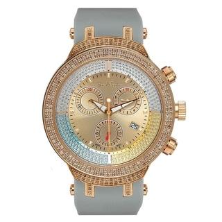 Joe Rodeo Men's Diamond Watch Genuine Diamonds 46 mm Yellow Case, Model MASTER