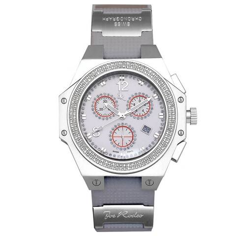 White Joe Rodeo Men's Diamond Watch Genuine Diamonds 1.5 ctw, 48.5 mm size case, Model: Shapiro - JRSP2 (1.5ctw)