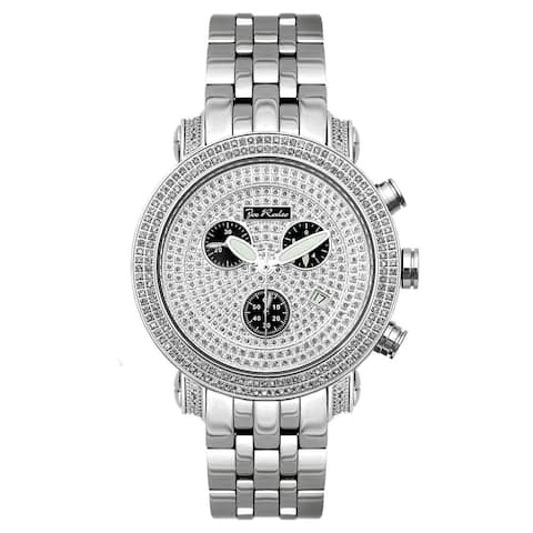 Joe Rodeo Men's Diamond Watch Genuine Diamonds, 44.5 mm size case, model CLASSIC