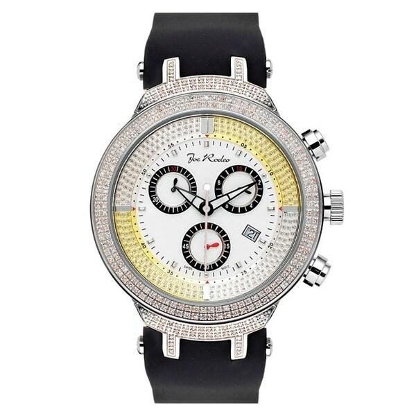 Joe Rodeo Men's Diamond Watch Genuine Diamonds 46 mm size White Case, model MASTER. Opens flyout.