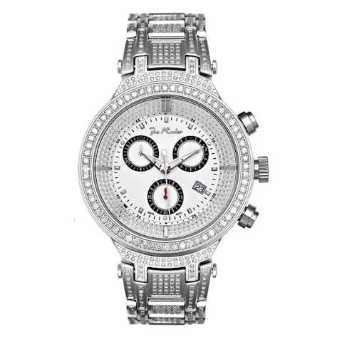 Joe Rodeo Men's Diamond Watch Genuine Diamonds 46 mm size White Case, model MASTER