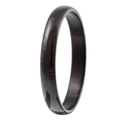 Black Stainless Steel Slim Comfort-fit Band