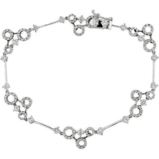 Miadora Signature Collection 18k White Gold 1 1/2ct TDW Diamond Circle Bracelet (G-H, SI1-3)