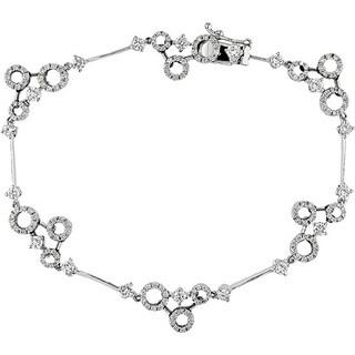 Miadora Signature Collection 18k White Gold 1 1/2ct TDW Diamond Circle Bracelet