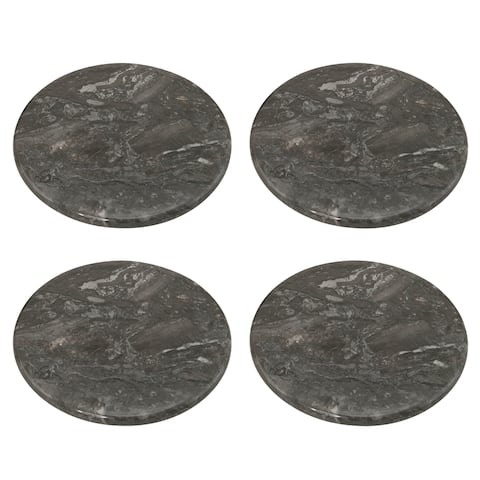 Creative Home Charcoal Marble Coaster Set (Set of 4)
