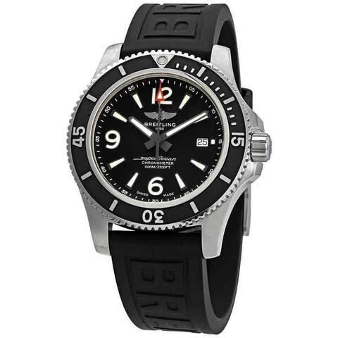 Breitling Men's A17367D71B1S1 'Superocean 44' Black Rubber Watch