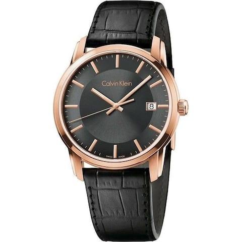 Calvin Klein Men's K5S316C3 'Infinite' Black Leather Watch