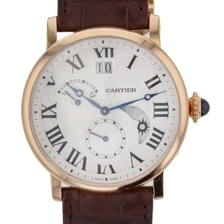 Link to Cartier Men's W1556240 'Rotonde De Cartier' Brown Leather Watch Similar Items in Men's Watches