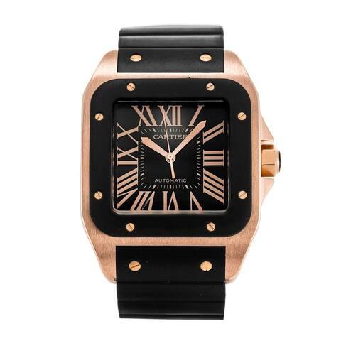 Cartier Men's W20124U2 'Santos' Black Rubber Watch