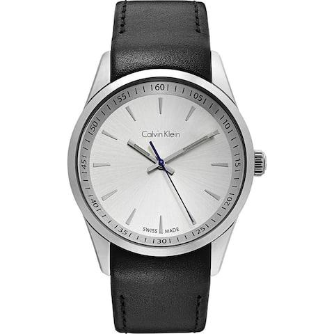 Calvin Klein Men's K5A311C6 'Bold' Black Leather Watch