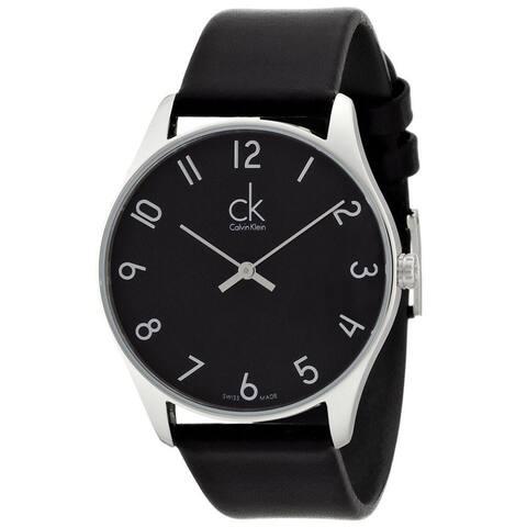 Calvin Klein Men's K4D211CX 'Classic' Black Leather Watch