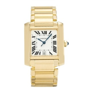 Link to Cartier Men's W50001R2 'Tank' Gold-Tone Stainless Steel Watch Similar Items in Men's Watches