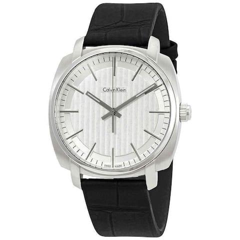 Calvin Klein Men's K5M311C6 'Highline' Black Leather Watch