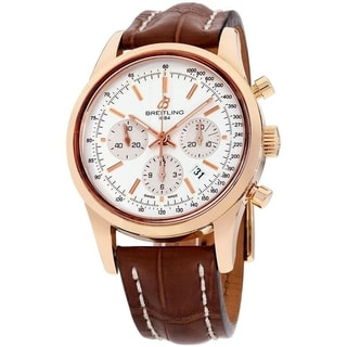 Link to Breitling Men's RB015212-G738-739P 'Transocean' Chronograph Brown Leather Watch Similar Items in Men's Watches