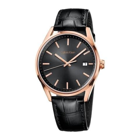 Calvin Klein Men's K4M216C3 'Formality' Black Leather Watch