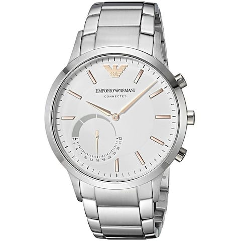 Emporio Armani Men's ART3005 'Connected Hybrid Smartwatch' Stainless Steel Watch