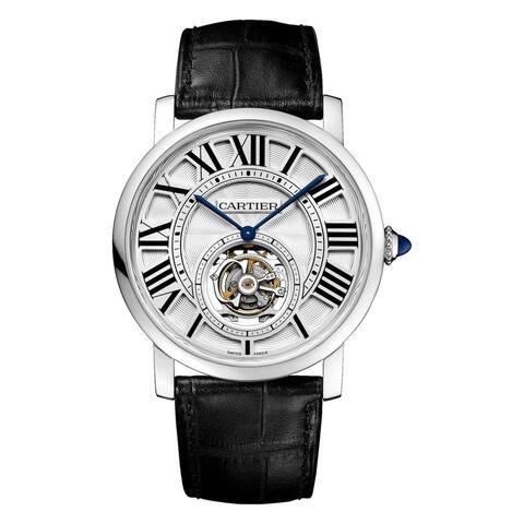 Cartier Men's W1556216 'Rotonde De Cartier' Black Leather Watch