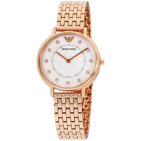 Emporio Armani Women's AR11006 'Kappa' Rose Gold-Tone Stainless Steel Watch