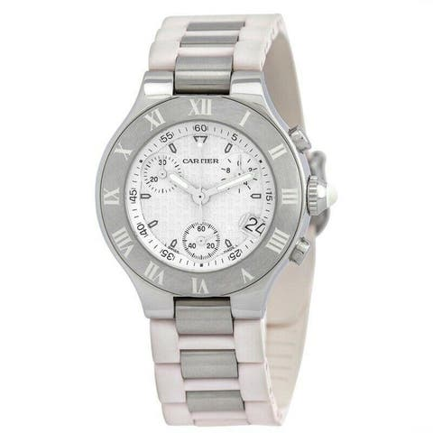 Cartier Men's W10184U2 'Must 21 Chronoscaph' Chronograph Two-Tone Stainless Steel Watch