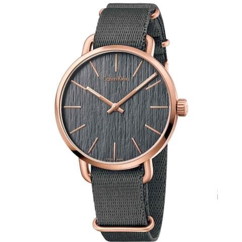 Calvin Klein Men's K7B216P3 'Even' Grey Fabric Watch