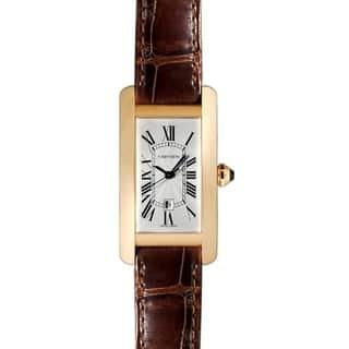 Cartier Unisex W2620030 'Tank' Brown Leather Watch