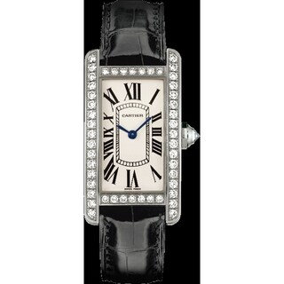 Link to Cartier Men's WJTA0003 'Tank' Black Leather Watch Similar Items in Men's Watches