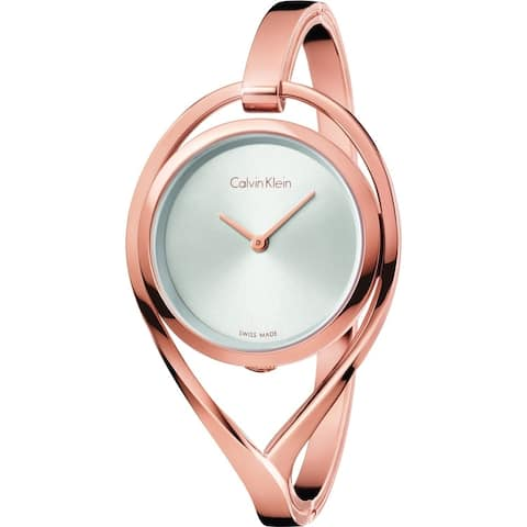 Calvin Klein Women's K6L2S616 'Light' Rose Gold-Tone Stainless Steel Watch