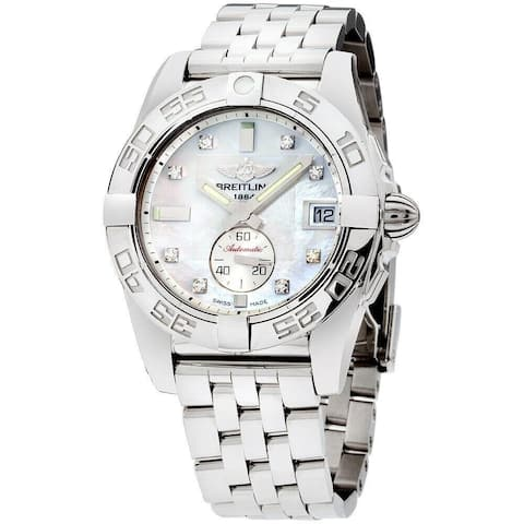 Breitling Women's A3733012-A717-376A 'Galactic' Stainless Steel Watch