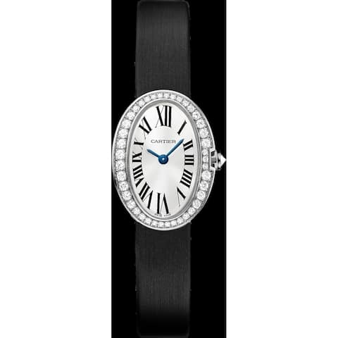 Cartier Women's WB520027 'Baignoire' Black Synthetic Watch
