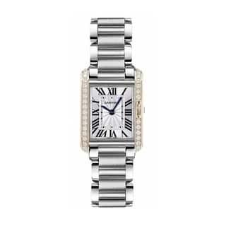 Cartier Women's W3TA0003 'Tank' Stainless Steel Watch