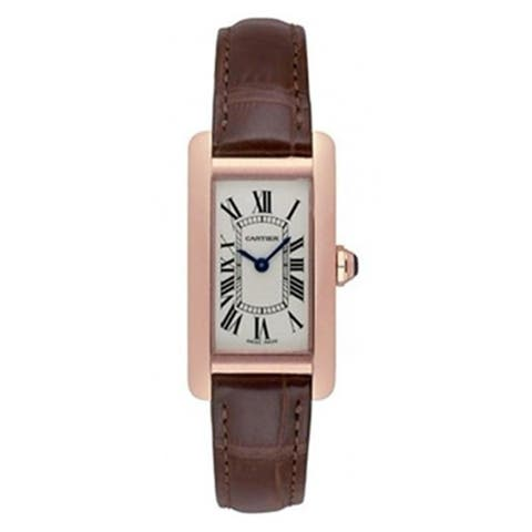 Cartier Women's W2607456 'Tank' Brown Leather Watch