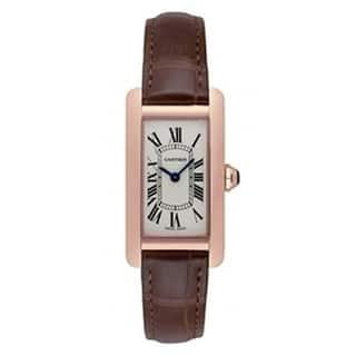 Cartier Women's W2607456 'Tank' Brown Leather Watch