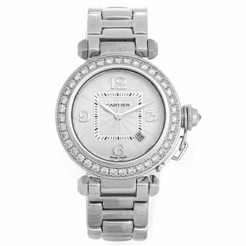 Cartier Women's WJ1116M9 'Pasha' Stainless Steel Watch