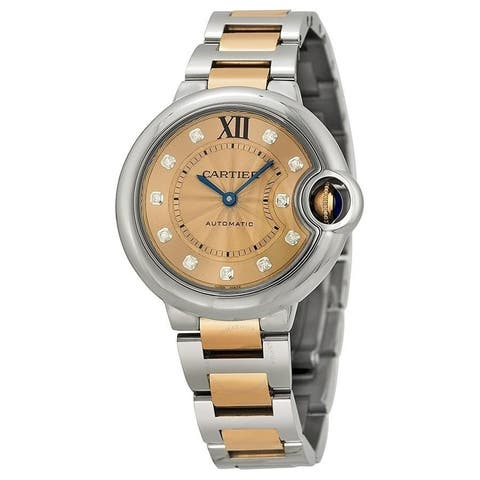 Cartier Women's WE902053 'Ballon Bleu' Diamonds Two-Tone Stainless Steel Watch