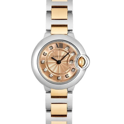 Cartier Women's WE902052 'Ballon Bleu' Diamonds Two-Tone Stainless Steel Watch