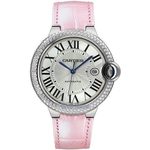 Cartier Men's WE900951 'Ballon Bleu' Pink Leather Watch
