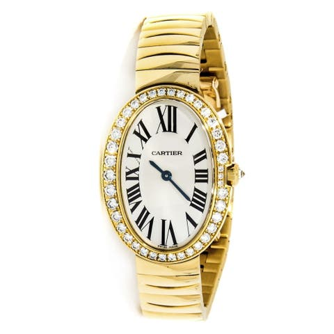 Cartier Women's WB520019 'Baignoire' Gold-Tone Stainless Steel Watch