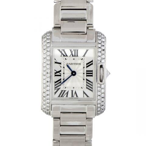 Cartier Women's WT100008 'Tank' Stainless Steel Watch