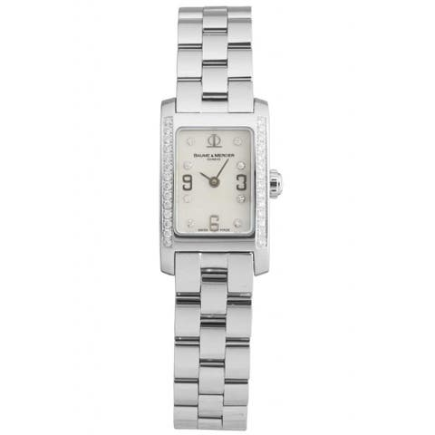 Baume & mercier Women's MOA08681 'Classic' Diamond Stainless Steel Watch