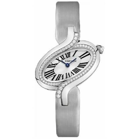 Cartier Women's WG800018 'Delices De Cartier' Grey Fabric Watch