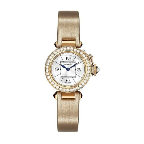 Cartier Women's WJ124026 'Pasha' Beige Synthetic Watch